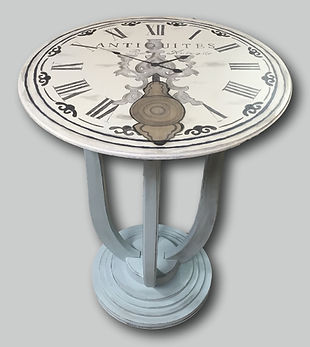 Clock painted table