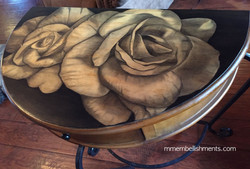 35 Double Rose stain table