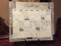 marble and stone tile calendar