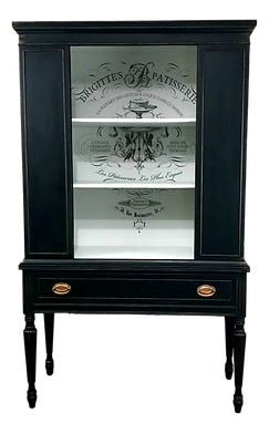 Open Black China Cabinet