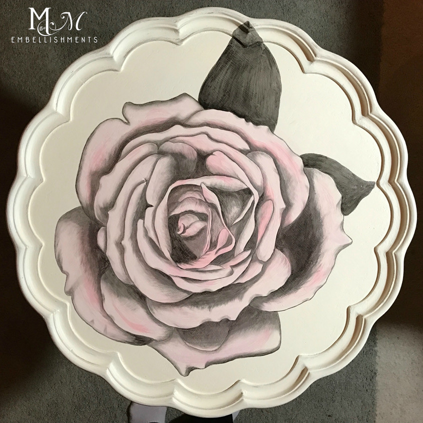 15 hand stained rose