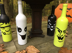 Wine bottle Halloween Decor