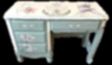 French Provincial Desk wit custom artwor