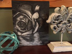 Hand Stained Reflective Rose