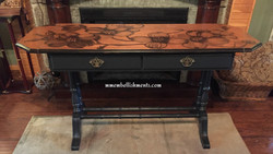 finished dogwood library table