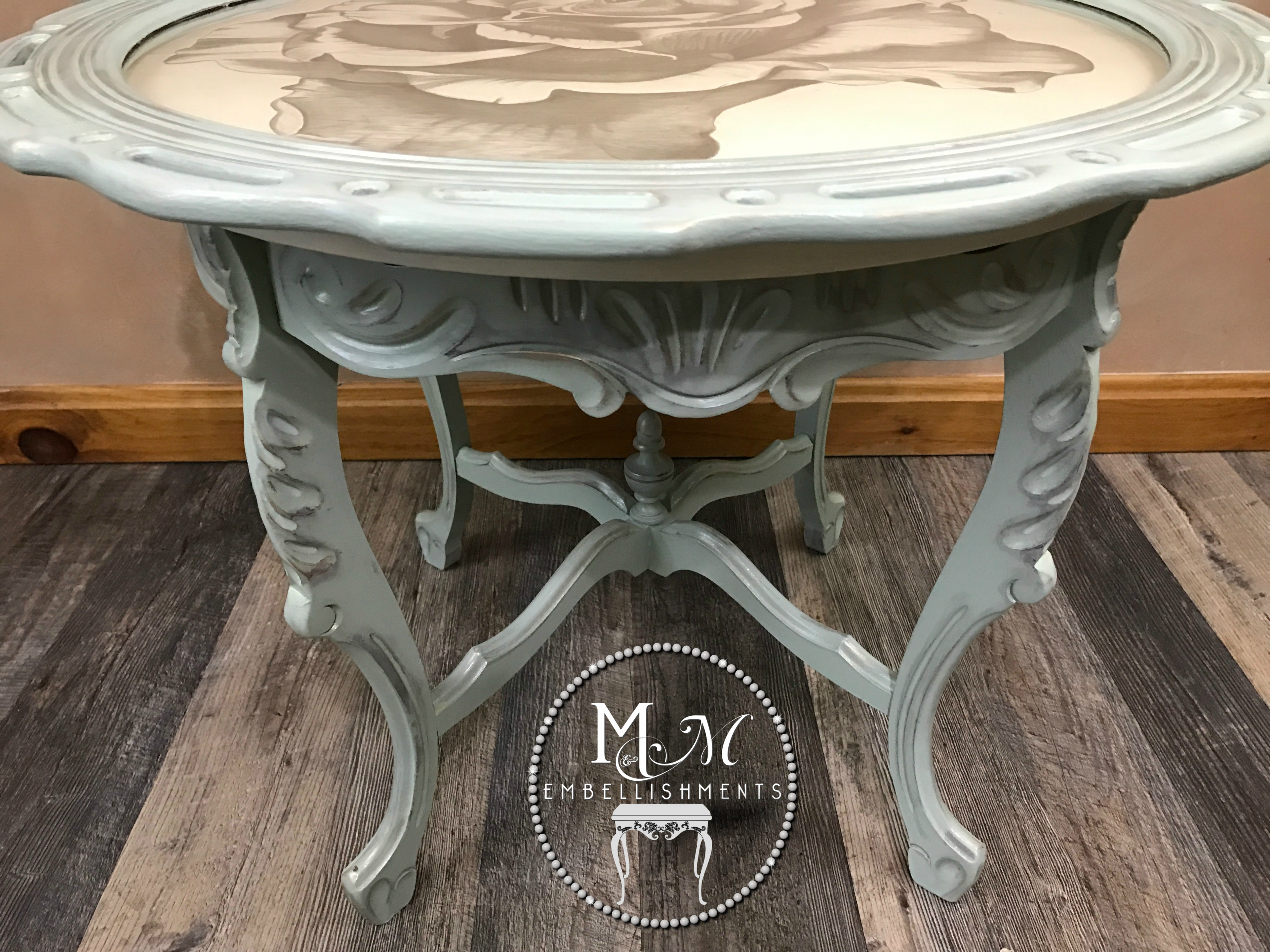 20 hand stained rose table
