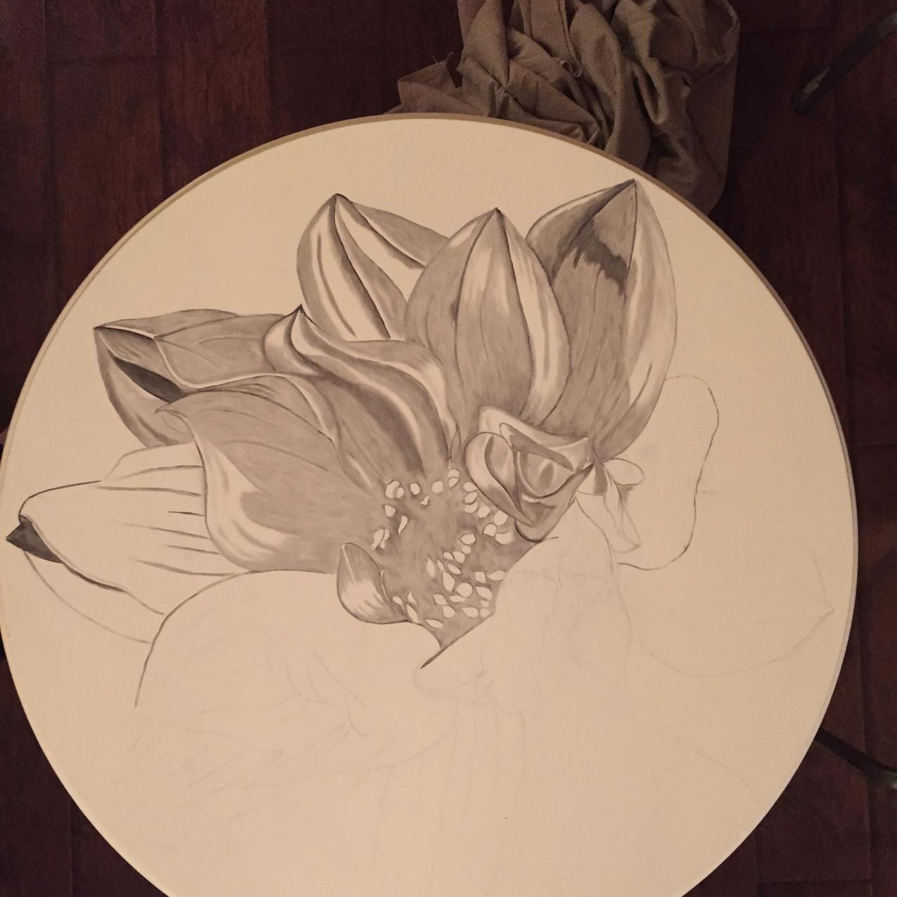14 Queen Ann Table, Magnolia 2