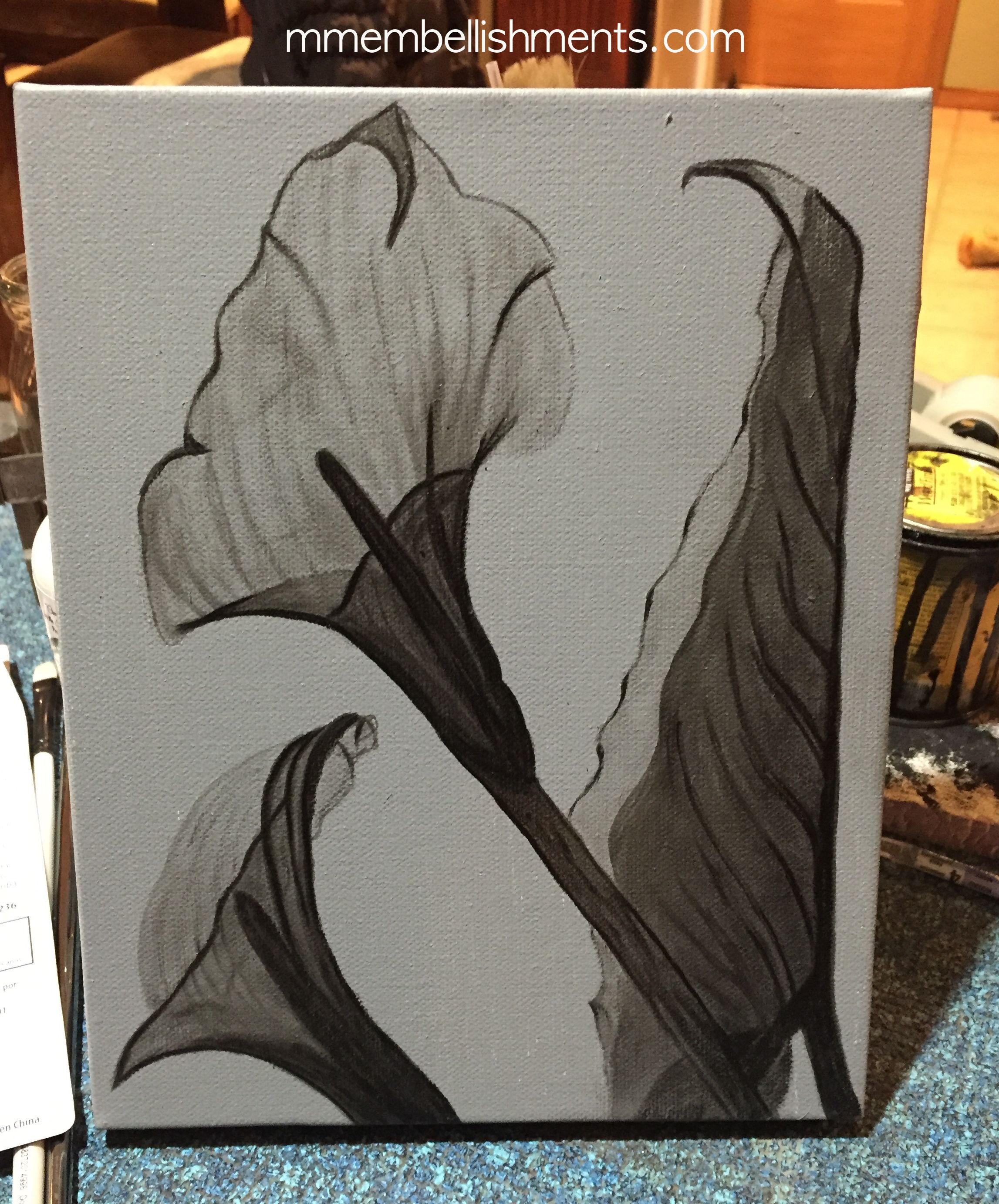 canvas calla x ray stained art, logo