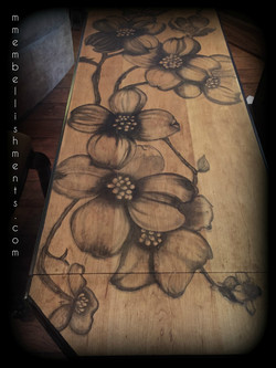 24 dogwood stained library table