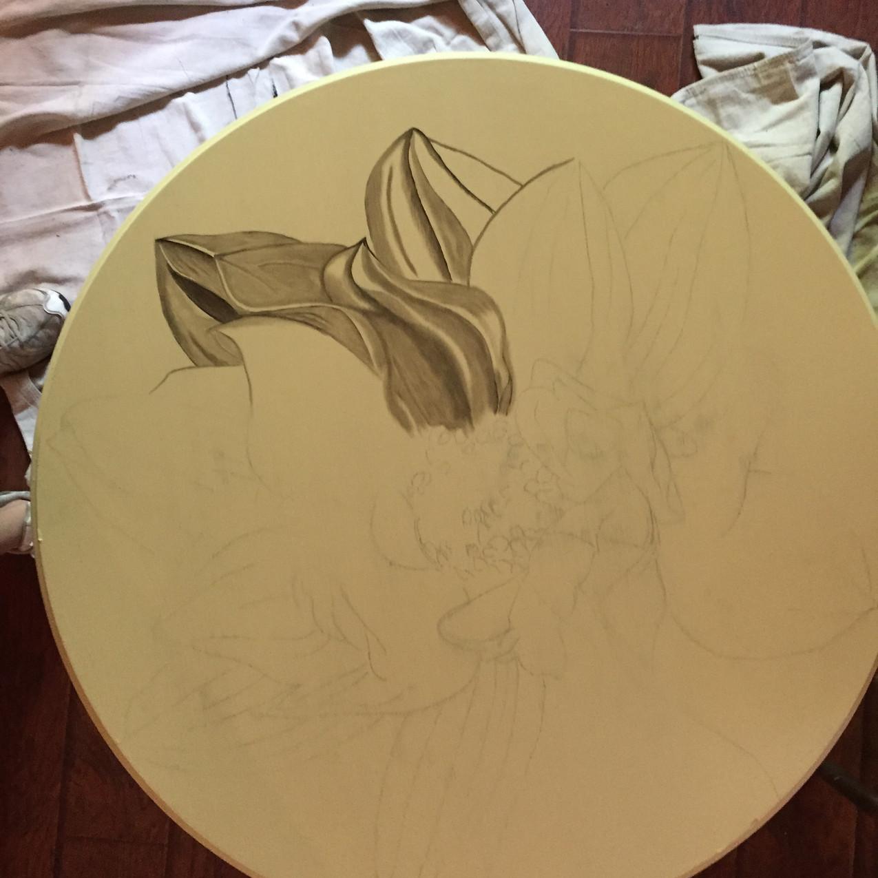 12 Queen Ann Table, Magnolia 2