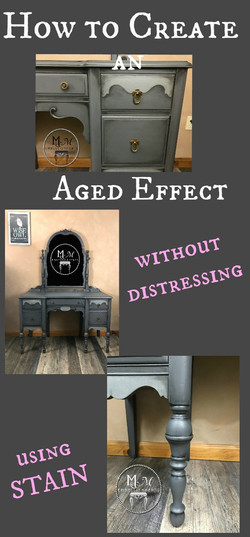aging with stain