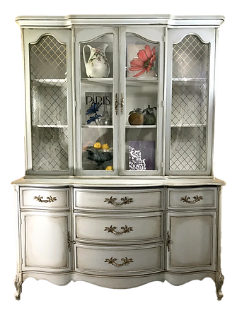 Hand Painted Vinage China Cabinet