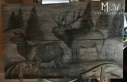 elk stained art