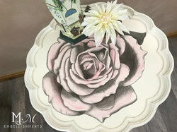 19 stain shaded rose table