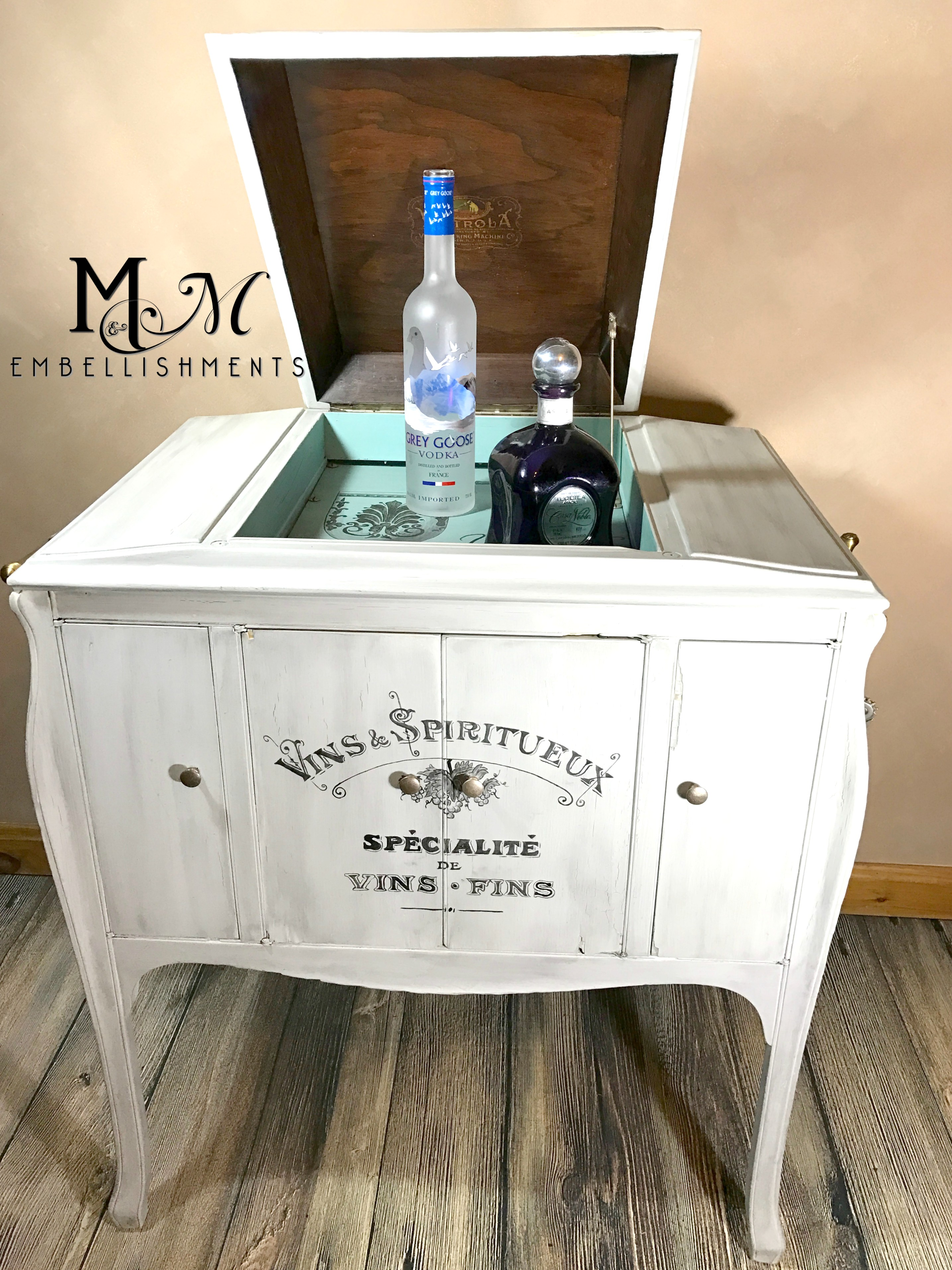 victrola liquor cabinet_ wine bar