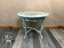 23 hand stained rose table
