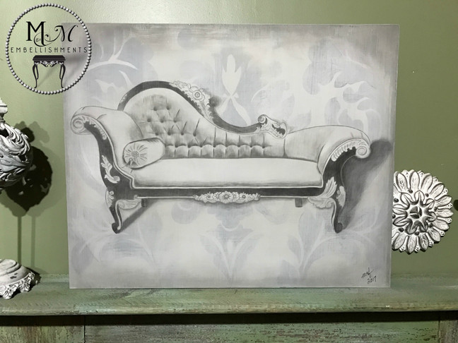 Stained Fainting Couch Artwork