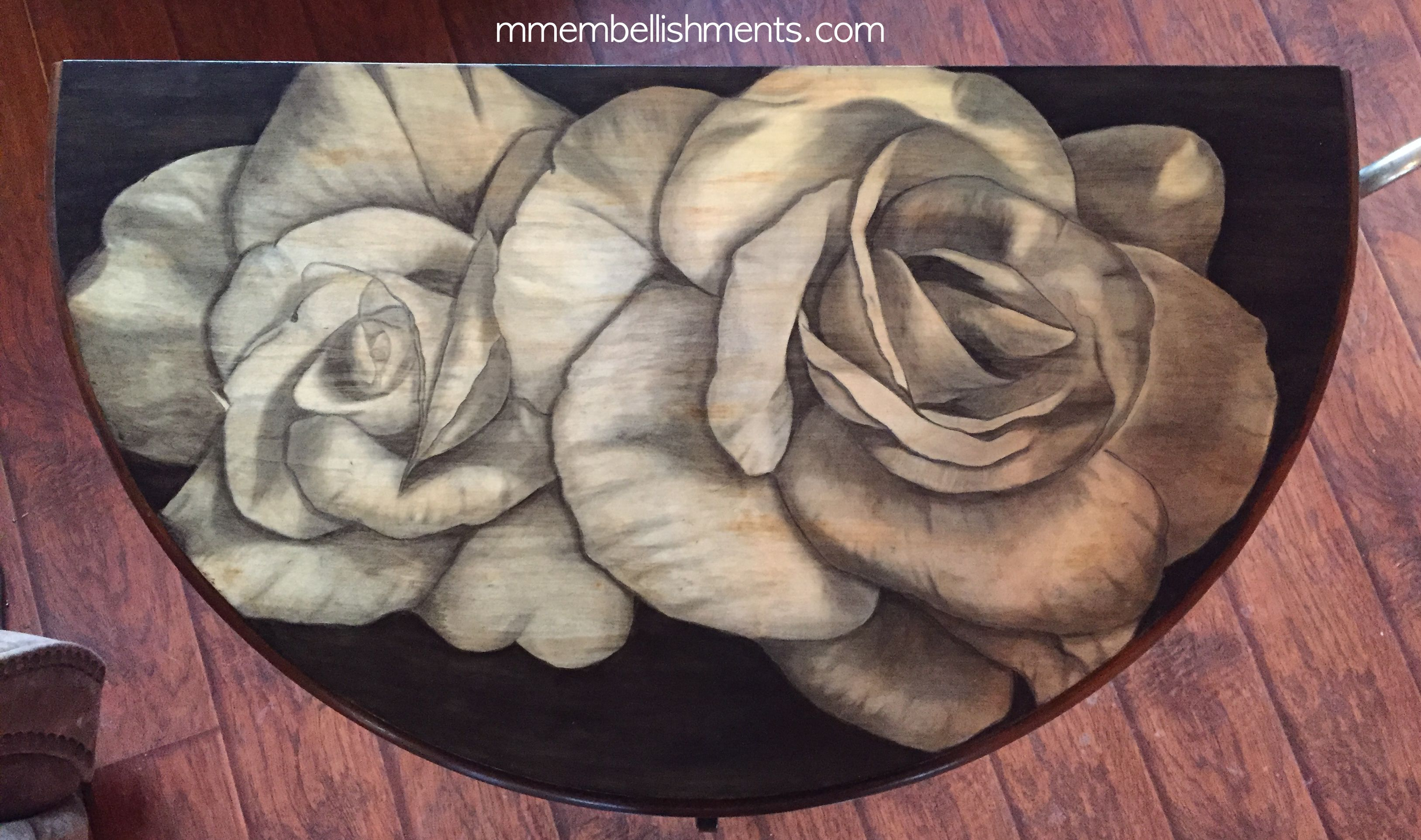 31 Double Rose STain Table