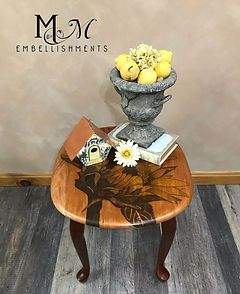 Hand Painted Sunflower End Table