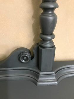 26 painted gray vanity detail