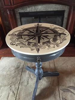 32 drum table compass rose