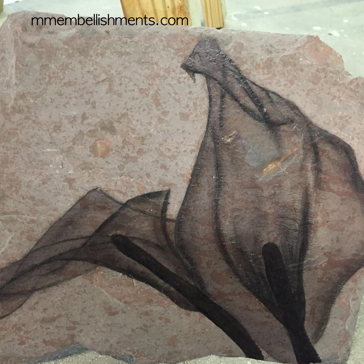 Calla Lilly X ray art on slate tile, logo