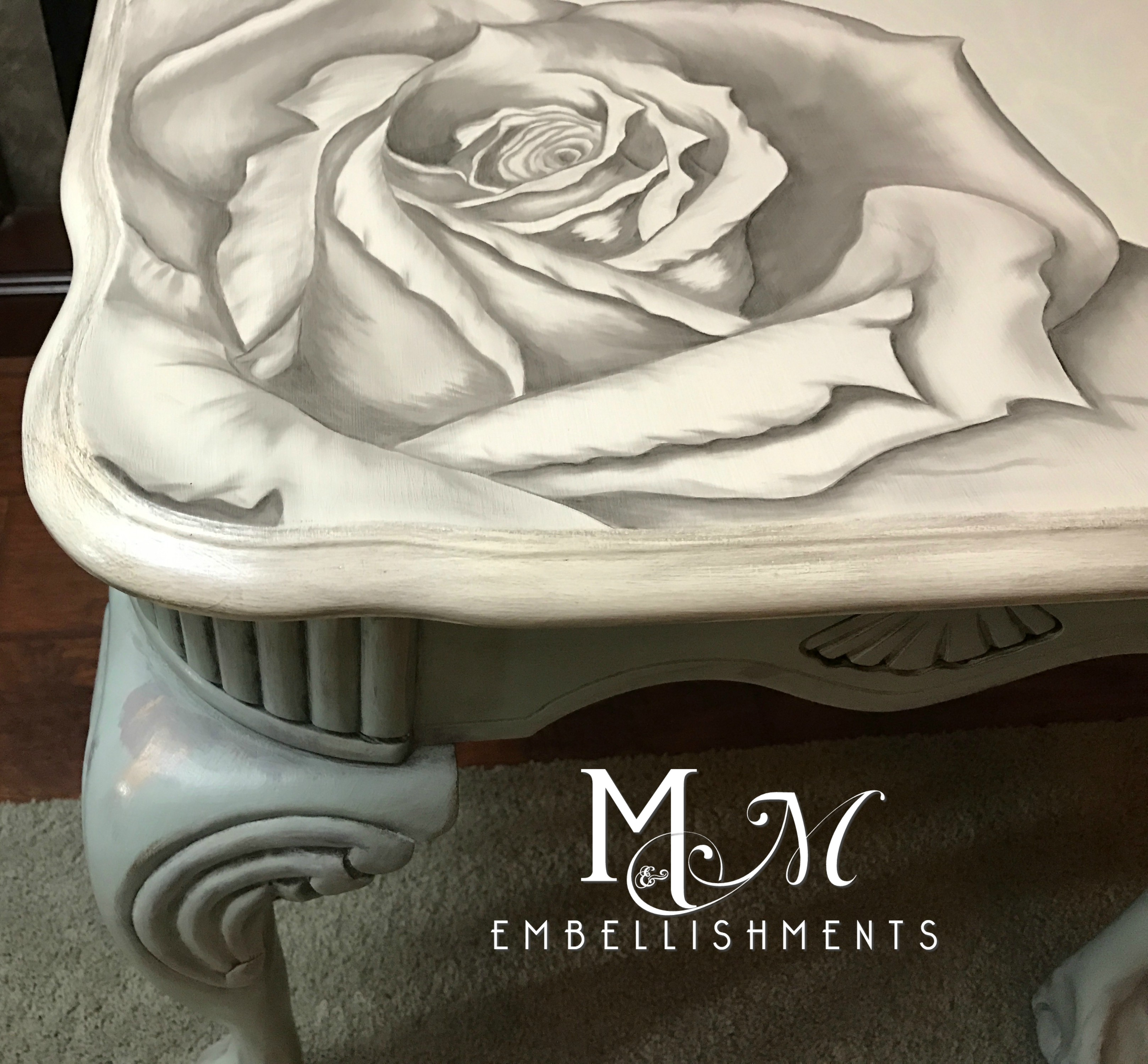 stain shading rose damask table
