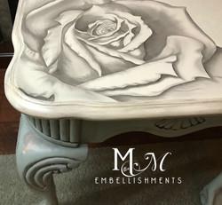 stain shading rose damask table