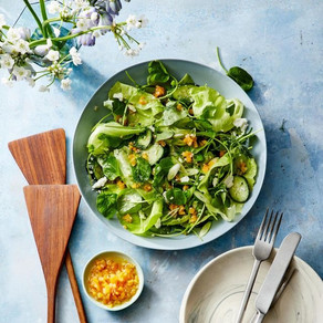 Spring Green Salad with Apricot vinaigrette