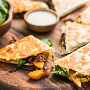 Butternut and Black Bean Quesadilla