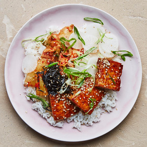 Tofu Barbecue & garlic rice