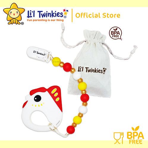 Li'l Twinkies Teether w/ Clip-on, Lucky Chicken