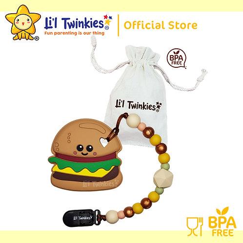 Li'l Twinkies Teether w/ Clip-on, Yum Yum Burger