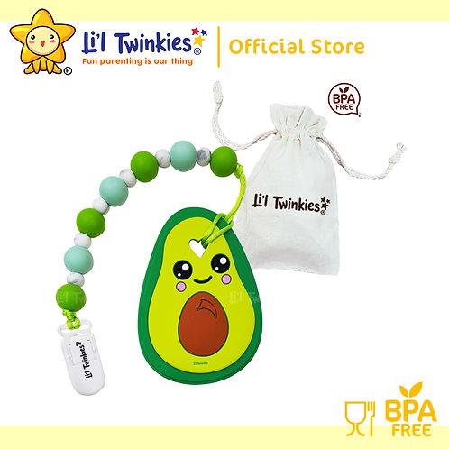 Li'l Twinkies Teether with Clip-on, Avocado