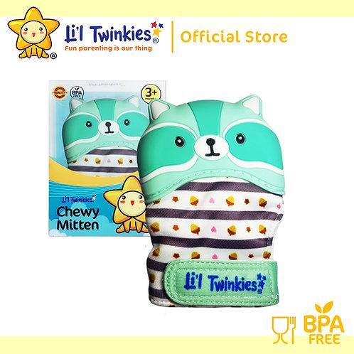 Li'l Twinkies Chewy Mitten Teether, Mint Raccoon