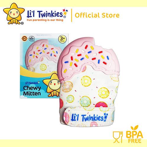 Li'l Twinkies Chewy Mitten Teether, Pink Donut