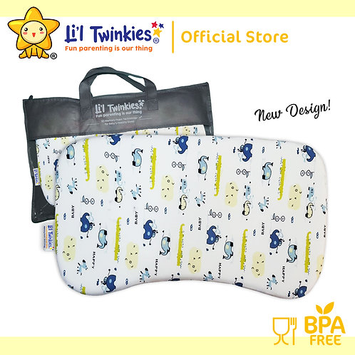 Li'l Twinkies New Memory Foam Pillow for Babies and Toddlers, Playful Eleph