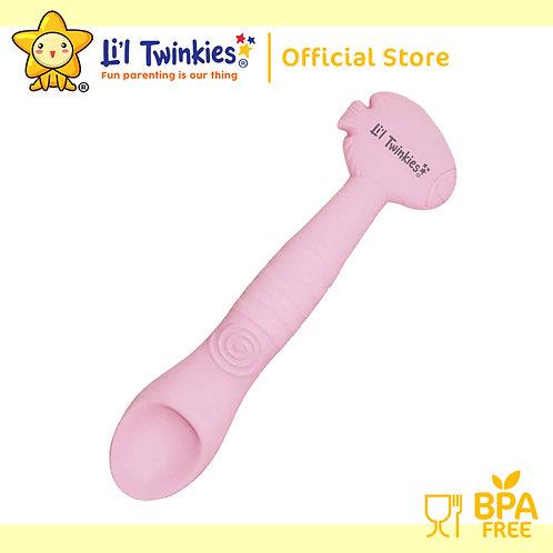 Li'l Twinkies Silicone Weaning Spoon, Blush Pink