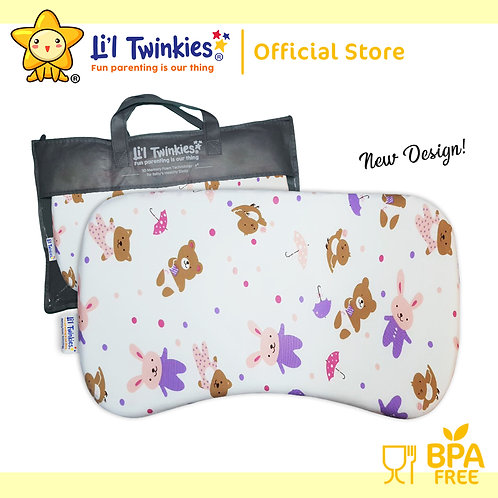 Li'l Twinkies New Memory Foam Pillow for Babies and Toddlers, Bears n Bunnies