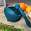 Thumbnail: Li'l Twinkies Silicone Weaning Bowl with Suction Bottom, Peacock Blue