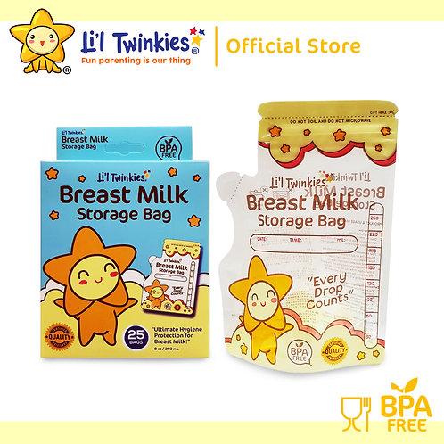 Li'l Twinkies New Clear Breast Milk Storage Bag 25's