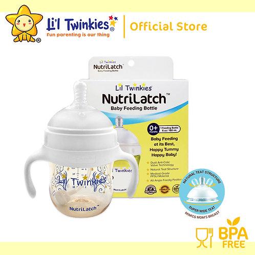 NutriLatch™ PPSU Feeding Bottle, 180ml, 0M+