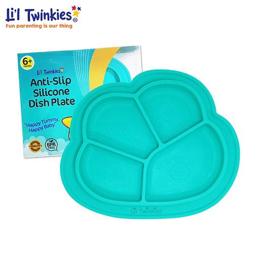 Anti-Slip Silicone Dish Plate, Teal