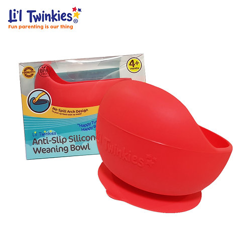 Silicone Weaning Bowl, Red