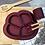 Thumbnail: Li'l Twinkies Anti-Slip Silicone Dish Plate, Burgundy
