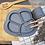 Thumbnail: Li'l Twinkies Anti-Slip Silicone Dish Plate, Pewter Gray