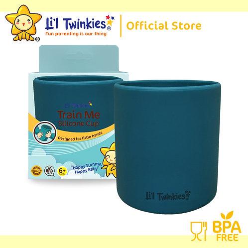 Li'l Twinkies Train Me™ Silicone Cup, Peacock Blue