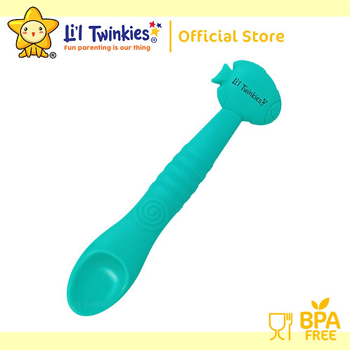 Li'l Twinkies Silicone Weaning Spoon, Teal