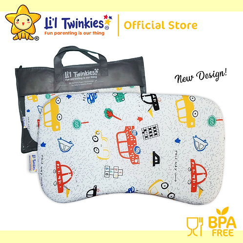 Li'l Twinkies New Memory Foam Pillow for Babies and Toddlers, Cars