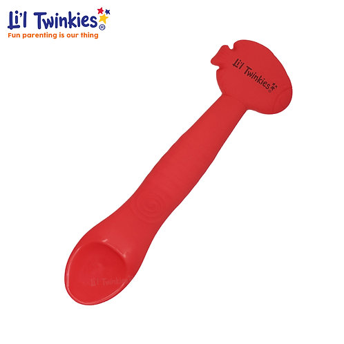 Silicone Weaning Spoon, Red